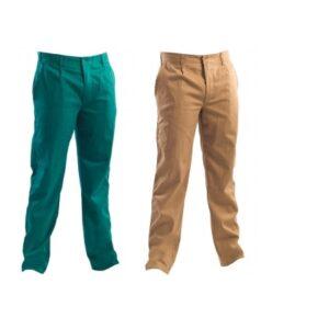 Pantalone da lavoro verde o kaki