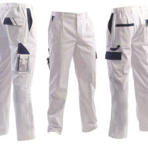 Pantalone da lavoro bianco multitasche